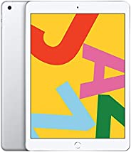 """Apple iPad 10.2"""" (2019 - 7th Gen), Wi-Fi + Cellular, 128GB, Silver [Without Face"""