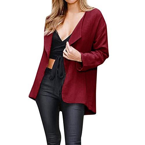 Berrose-Frau Kurzer Absatz Einfarbig Strickjacke Mantel Mantel-Damen Mode Kleidung Hoodies Pullover...