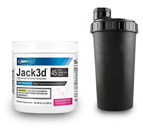 USP Labs Jack3d Advanced Pre Workout Fitness Booster Trainingsbooster Bodybuilding Sport (Dragonberry) 3d Jack