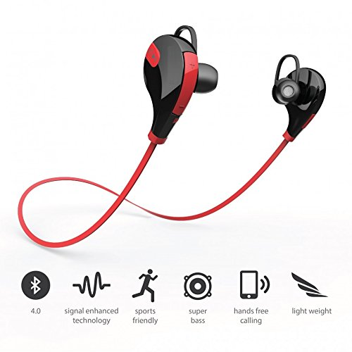 Sony-Xperia-XA-Compatible-Certified-Captcha-Bluetooth-41-Wireless-Stereo-Sport-Headphones-Headset-Running-Jogger-Hiking-Exercise-Sweatproof-Hi-Fi-Sound-Hands-free-Calling-Red