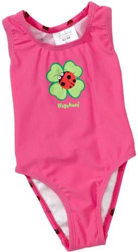 Playshoes Baby - Mädchen Babybekleidung/ Badebekleidung UV-Schutz nach Standard 801 und Oeko-Tex Standard 100 Badeanzug Glückskäfer mit Windeleinsatz 460033, Gr. 86/92, Pink (900 original)