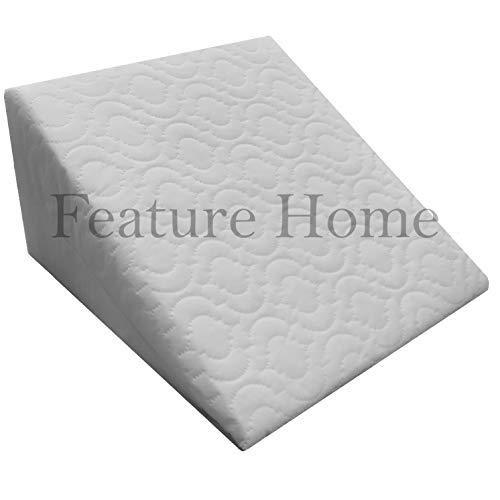 Feature Home Schaumstoff Unterstützung Keilkissen Kissen mit Abnehmbarer Bezug gesteppt, 2Wege Komfort und Unterstützung -