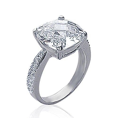ISADY - Galia - Damen Ring - Sterling Silber 925 gestempelt rhodiniert - Zirkonium transparent - T 52 (16.6)