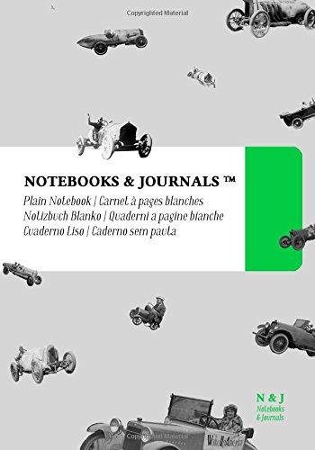 Carnet Notebooks & Journals, Des Voitures (Collection Vintage), Extra Large, Blanc: Couverture souple (17.78 x 25.4 cm)(Carnet de Notes, Carnet de Voyage, Cahier de Texte) par Notebooks and Journals