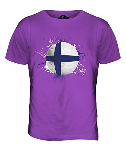 CandyMix Finnland Fußball Herren T Shirt Violett