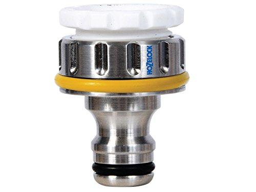 Hozelock - Conector metálico para grifo exterior de rosca de 3/4'' y 1/2''
