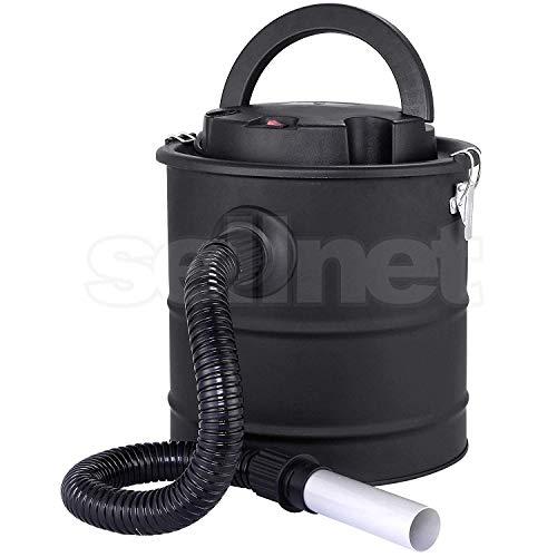 SELLNET SN2018 - Aspirador de cenizas para chimenea, 1200 W, capacidad de 20 L, sistema de...