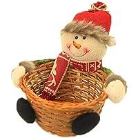 Supertop Christmas Candy Storage Adorno de Navidad Adorno de Santa/Muñeco de nieve/Elk Basket Regalos para niños bebés