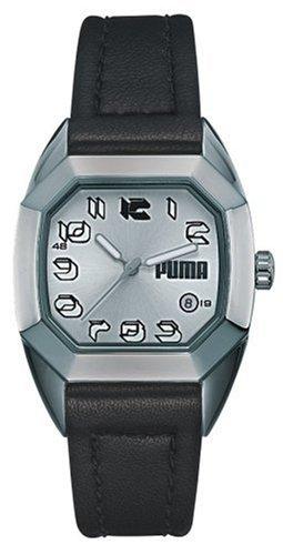 Puma Time - Vintage 77 Ladies 4310772 - Montre Femme - Quartz - Analogique - Chronographe - Bracelet en Cuir Noir