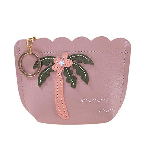 Mode GeldböRse Clutch TTLOVE Niedlicher Druck Mini Brieftasche Damen ReißVerschluss Handtasche Taschen (Lila) (Autositz Für Jogging-kinderwagen)