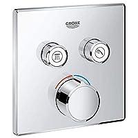 Grohe Metal Smart Control Mixer Trim Square Mixer (Silver)
