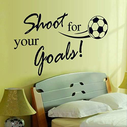 Wandaufkleber Fliegen Fußball Schießen Für Ihr Ziel Englisch Buchstaben Abziehbilder Aufkleber Für Kinderzimmer Wohnzimmer Dekor Wandbild -