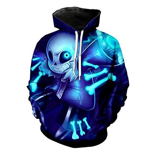 Weiyi0765 Game Undertale Sans Skull Hoodie Mantel Sweatshirt Winter Warm Unisex Kinder Erwachsene Cosplay Kostüm, B, ()