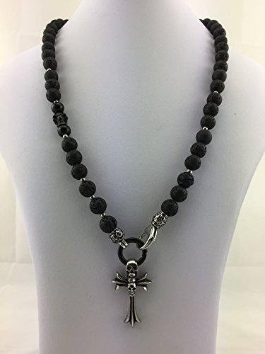 Gothic-rosenkranz-halskette (2in1 Halskette Y-Kette Rosenkranz Perlenkette