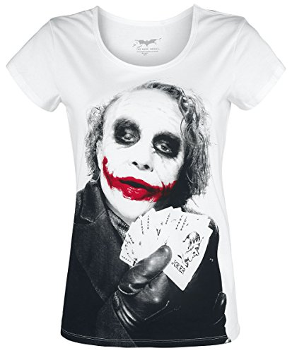Unbekannt The Joker Joker Poker Girl-Shirt Weiß Weiß