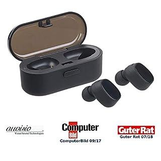 auvisio Kopfhörer, Bluetooth: True Wireless In-Ear-Stereo-Headset, Bluetooth 4.2 (20 m), Lade-Etui (True Wireless Kopfhörer)