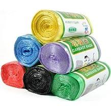 Tanzimarket - Alta calidad 6 colores engrosamiento de la alta calidad del bolso de basura Puntos tintadas - Black
