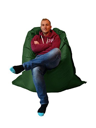 Extra Large Giant Beanbag British Racing Green - Indoor & Outdoor Bean Bag - MASSIVE 180x140cm - great for Garden by Outside & In