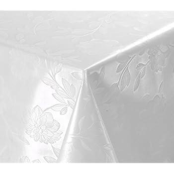 - 100 x 140 cm gepr/ägte Blumen in Weiss 300-01 TEXMAXX Wachstuchtischdecke Wachstischdecke Wachstuch Tischdecke abwaschbar PVC Tischdecke abwischbar