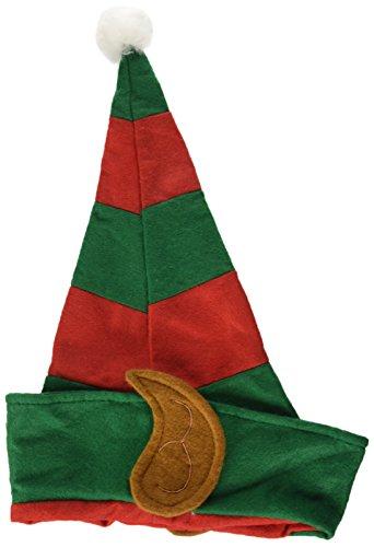 Hut mit Ohren, One Size, Grün und Rot, 21469 (Elfen-hut)