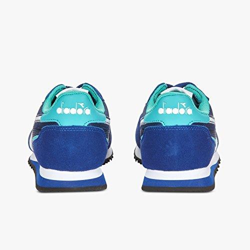 Diadora Malone, Sneaker a Collo Basso Unisex – Adulto C6471 - BLU STAMPA-VERDE CERAMICA CHIARO