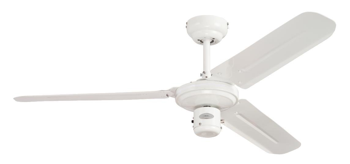 Westinghouse Lighting 7833740 78337 Industrial 122 cm Three Indoor Ceiling Fan, White Finish with White Blades