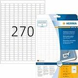 Herma Etiketten weiß Movables/ablösbar 17,8x10mm Special A4 VE=6750 Stück
