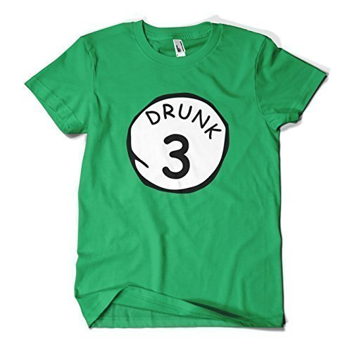 MYOG St Patricks Tag T-Shirt Paddys Day BETRUNKEN 1 TO 9 Neuheit Lustige T-Shirt - Betrunken 3, Womens XL (14-16) (St Patricks Tag Shirts Lustig)