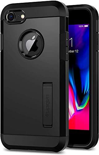 Spigen [Tough Armor 2 Kompatibel mit iPhone 8/7 Hülle (054CS22216) Doppelte Schutzschicht für Extrem Fallschutz Schutzhülle Case (Schwarz) Schutzhülle Case