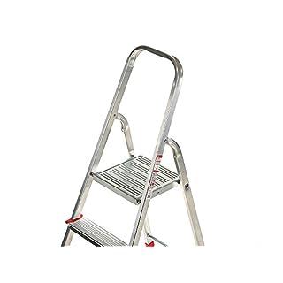 Stufenleiter Steh Alu 1x5 Stufen Sprossen Haushalt Tritt Klappleiter 5x1