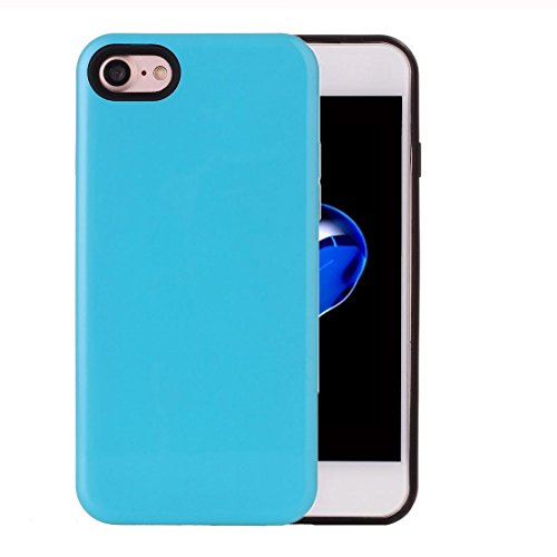 2 in 1 Solid Color PU + TPU Kombination zurück Fall Deckung für iPhone 7 BY EKINHUI ( Color : Pink ) Blue