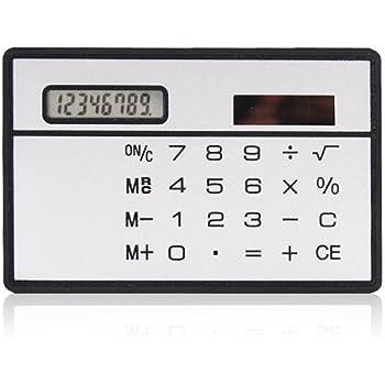 Mini Taschenrechner Kreditkartenformat Compact Solarrechner,Bonniee Standard Function Tischrechner 8-stelliges Display,Schwarz