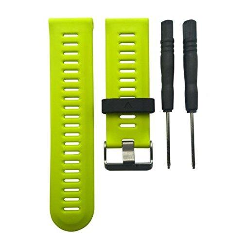 Bracelets de rechange en silicone pour Garmin Fenix 3 /HR, bracelets pour montre de fitness, vert fluorescent