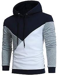 Pottoa 2018 Herren Hemd, Herbst Winter Herren Retro Langarm Kapuzenpullover  Sweatshirt Oberteile Jacke Mantel Outwear 7510cfb798