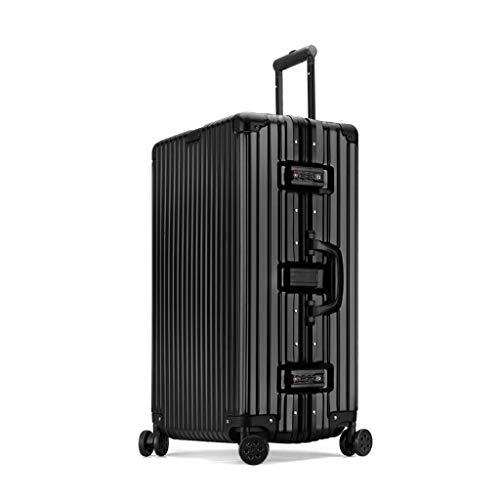 SXXCL Gepäck Mode Trolley Teleskopstange Passwort Koffer Kleine Verpflegung (Color : Black, Size : 26in)
