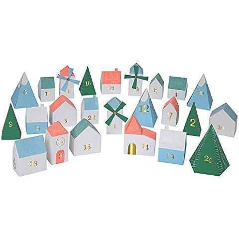 Meri Meri 3d Aldea Navidad Calendario de Adviento