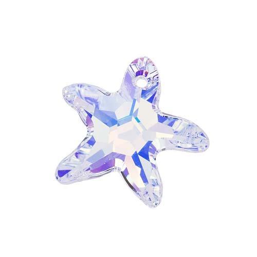 Swarovski Elements Kristallanhänger, 6721 Seestern 16 mm, Crystal AB (1 St.)