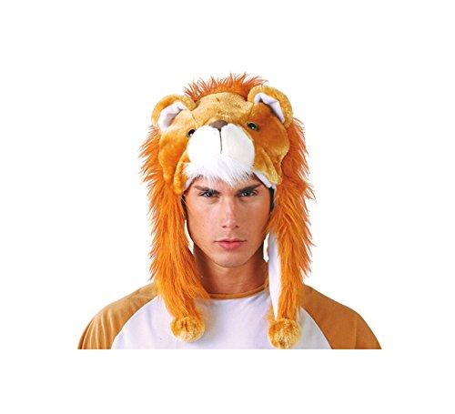 mütze Löwe Mütze Hut für Erwachsene Tier Löwenkopf Karneval Fasching ()