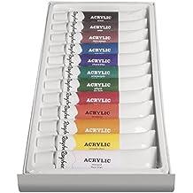 Rayher Hobby 38925000Artista Juego de pintura acrílica, 12colores, 2.6x 1.05X 0,21cm