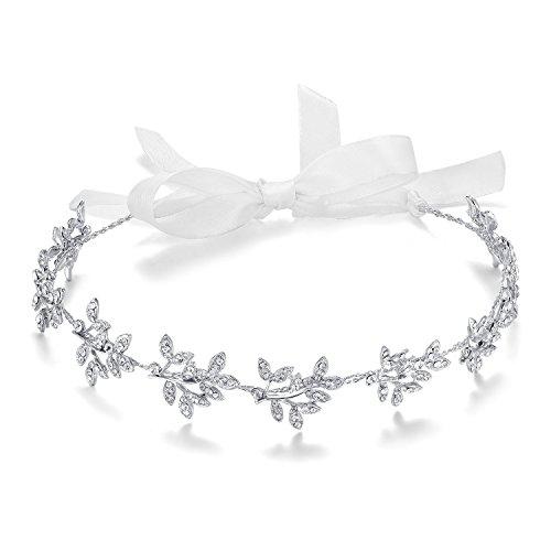 ArtiDeco Braut Haarband Silber Kristall Blinkender Braut Haarschmuck Handgefertigtes Vintage Braut Stirnband Braut Hochzeit Accessoires Party Stirnband