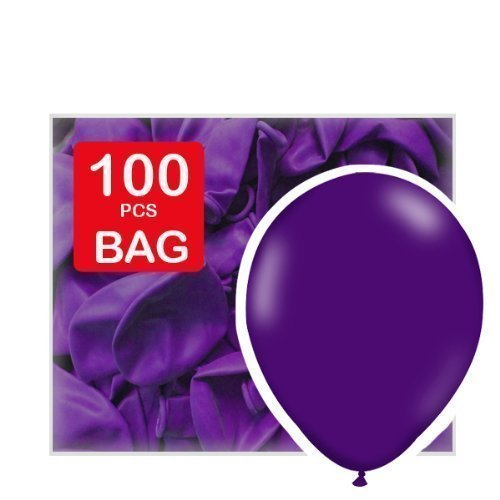 Purple 12 standard latex balloons by Tri Balloons