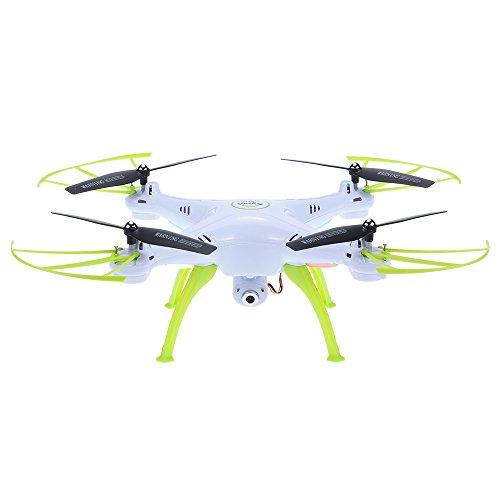 GoolRC X5HC Drone con Cámara 2.4GHZ 4 Canales Modo sin Cabeza 6-Axis Gyro RC Quadcopter (Blanco)