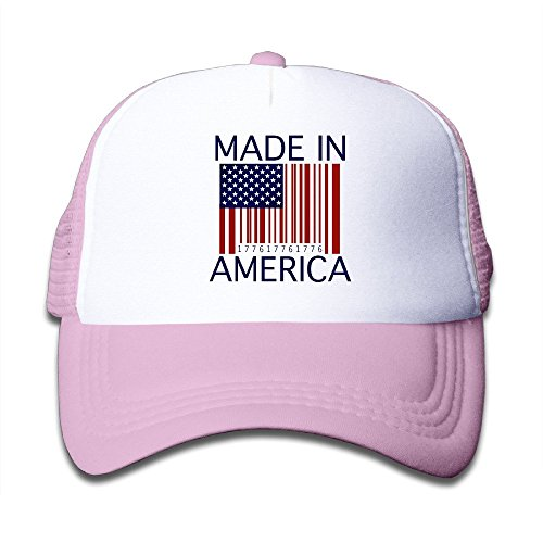 fboylovefor Barcode - Made In America Adjustable Nylon Hats Summer Sport Hat For Girl Boy One Size Fits Most