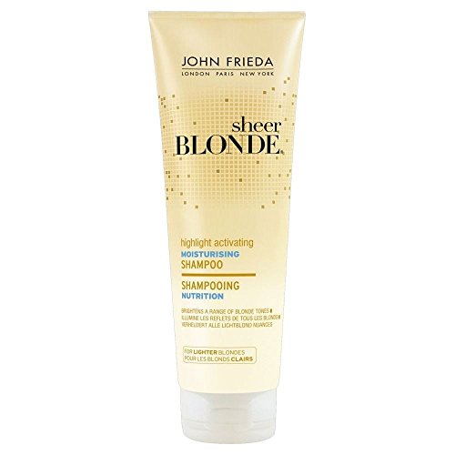 John Frieda Sheer Blonde Shampooing Hydratant - pour Blondes Briquet (250ml) - Paquet de 6