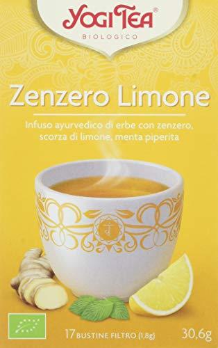 Yogi Tea Zenzero Limone - 17 Bustine Filtro [30.6 gr], Biologico - [confezione da 3]