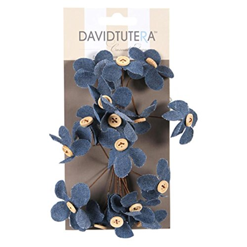 (Darice Flower pick-denim-4.5 X 8,9 cm -16pc)