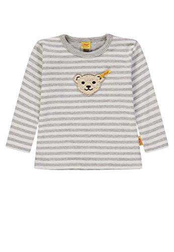 Steiff Unisex Baby T-Shirt 1/1 Arm, Weiß (y/d Stripe|Multicolored 0001), 80