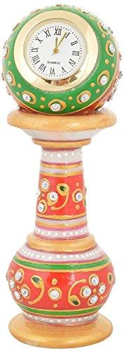 Saudeep India Trading Corporation Marble Pillar Clock (10 cm x 4 cm,...