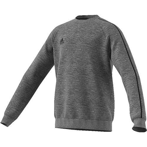 adidas Kinder Core18 SW Top Y Sweat-Shirt, Grau (dark grey heather/Black), XL (13-14 Jahre)