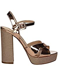 5a9b09b8b96c CAFè NOIR LG918 multiantracite argento sandali donna tacco plateaux  cinturino